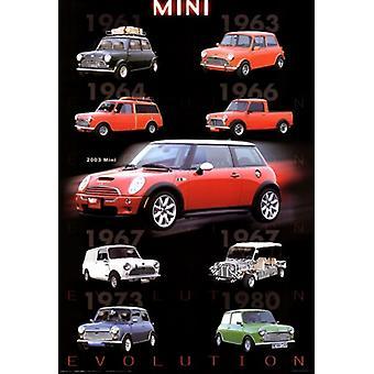 Evolution - Mini Cooper Poster Poster Print
