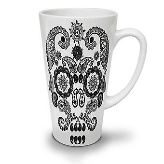 Face Of The Skull NEW White Tea Coffee Ceramic Latte Mug 17 oz | Wellcoda