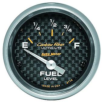 Auto Meter 4714 Carbon Fiber Electric Fuel Level Gauge