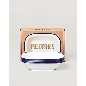 Falcon Enamelware Pie Dishes (4 Items) White