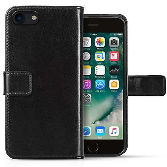 Iphone 8 Real Leather ID Wallet - Black
