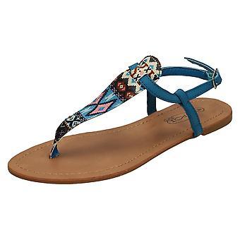 Ladies posto sul piatto Aztechi stampa sandali