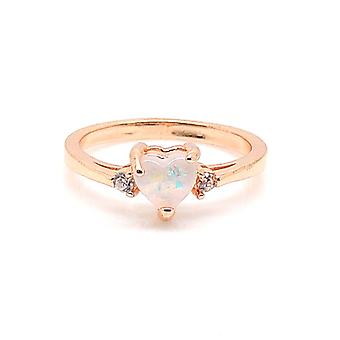 Carrington Heart Lab Created Oval Fire Opal Ring - Ginger Lyne Collection