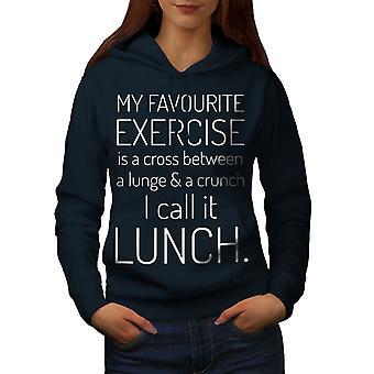Favourite Exercise Women NavyHoodie | Wellcoda