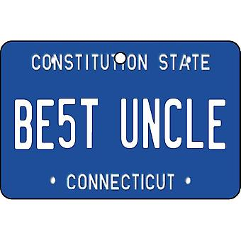Connecticut - Best Uncle License Plate Car Air Freshener