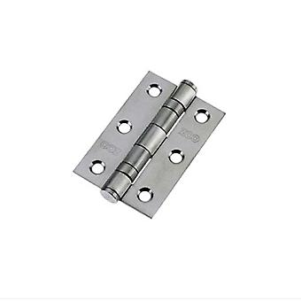 Zoo Ball Bearing Hinge - Steel - Satin Chrome - ZHS32SC