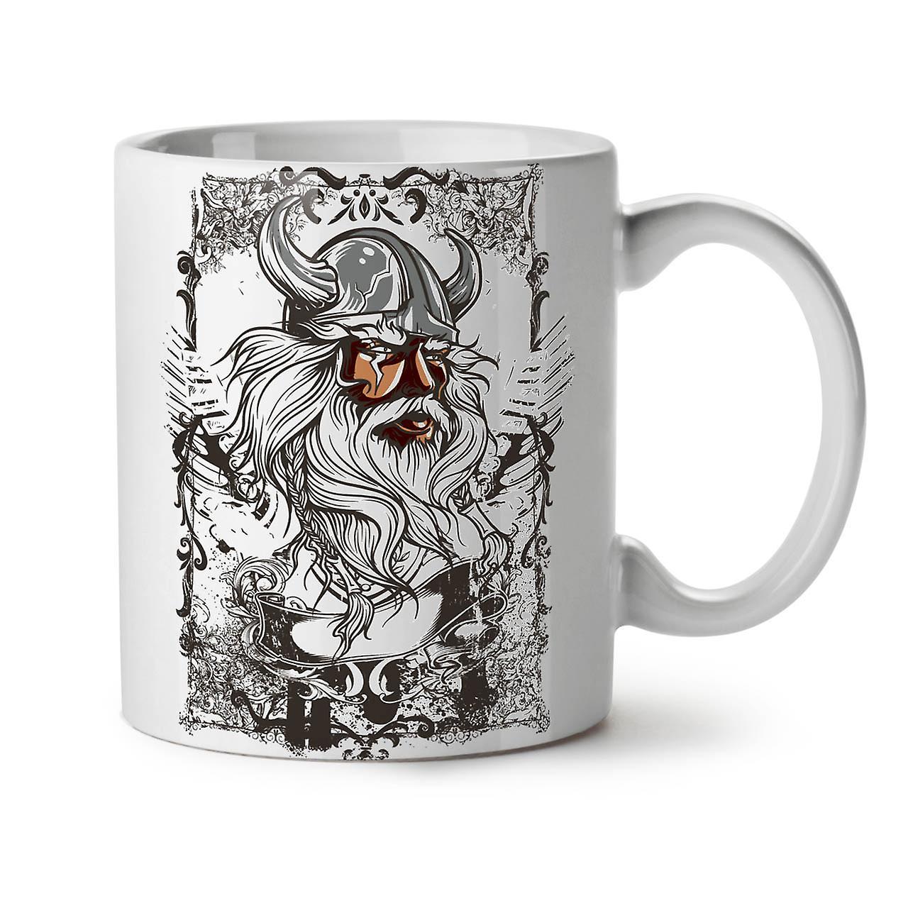 Face Ceramic North OzWellcoda Warrior Coffee Mug 11 Tea New White T1JcKlF