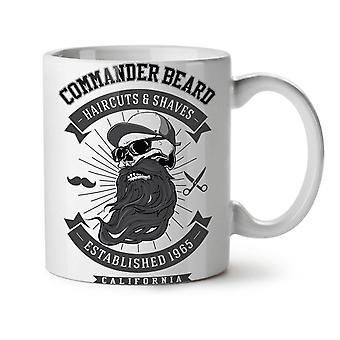 Commander Beard NEW White Tea Coffee Ceramic Mug 11 oz | Wellcoda