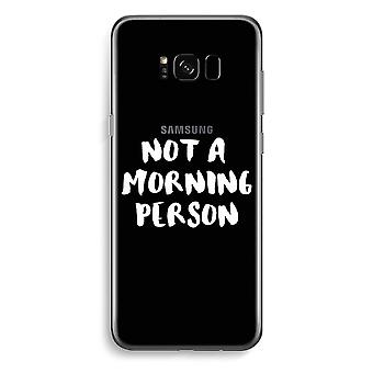 Samsung Galaxy S8 Transparent Case - Morning person