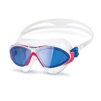 Head Horizon Swim Goggle - Blue Lens - White/Pink/Blue