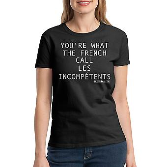 Home Alone You're Incompetents Women's Black T-shirt