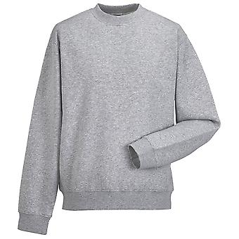 Russell Collection Mens Classic Set In Sleeve Sleeve Pullover Sweatshirt Jumper