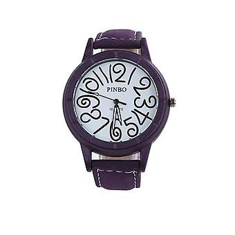 Elegante reloj Funky púrpura claro tiempo reloj de moda