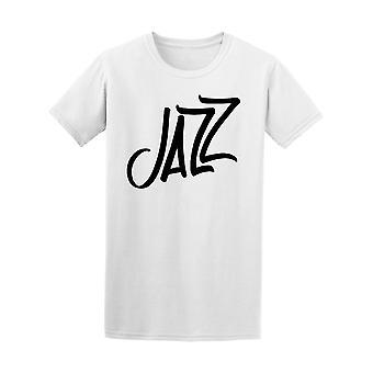 Jazz música caligrafia Tee MASC-imagem por Shutterstock