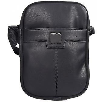 Replay Fm3306 Leather Black Pouch