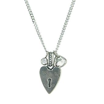 Fossil ladies stainless steel chain necklace JF86597040 heart Castle Street