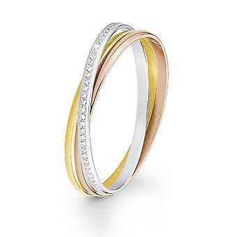 s.Oliver juweel dames armband roestvrij staal tricolor 2012545