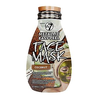 W7 Metallic Easy Peel Coconut Face Mask Skin Care Deep Clean & Purifying 10g