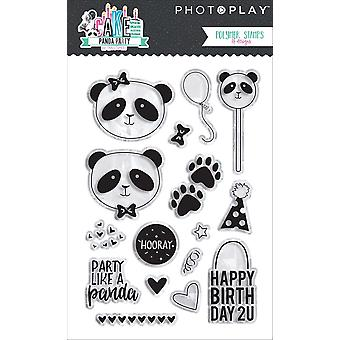 Cake Polymer Stamps-Panda Party