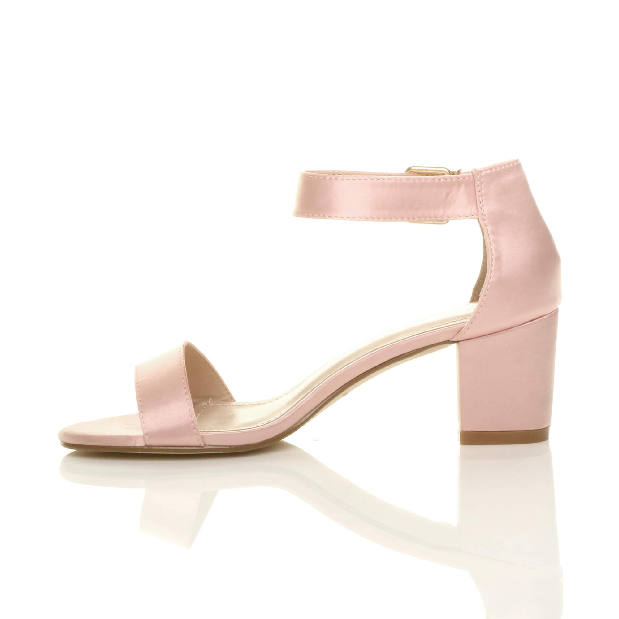 wedding low strap womens mid Ajvani party sandals heel evening buckle bridesmaid ankle block strappy U85pqwgqxY