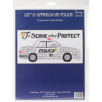 Let's Appreciate Police Counted Cross Stitch Kit-12