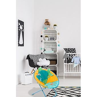 CHILDREN CHAIR FISH MOTIF INDOOR OUTDOOR KIDS CHAIRS SOFT YELLOW BLUE SALE