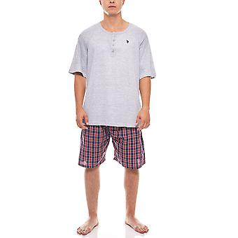 U.S. POLO ASSN. Men's Pajama set sleep suit short grey