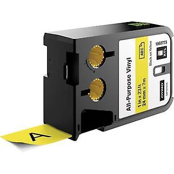 Labelling tape (multi-purpose vinyl) DYMO 1868773 XTL Tape colour: Yellow Font colour:Black 24 mm 7 m