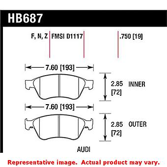 Hawk 'Performance Street' Brake Pads HB687F.750 Fits:AUDI 2004 - 2010 A8 QUATTR