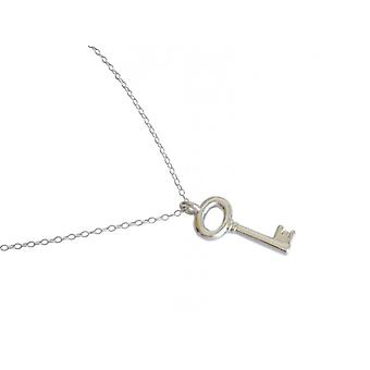 Gemshine - ladies - trailer - key - necklace - 925 Silver - 5.5 cm