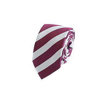 Cravate laine, cravate cravate rouge 6cm, Fabio Farini blanc rayé