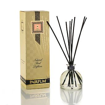 Large & Natural Reed Diffuser - Long-lasting & Healthy - Beautiful Perfumes that Compliment You - Fragrances for 6 - 9 months (250 ml) - by PAIRFUM - Perfume: Pink Grapefruit - with Black Reeds