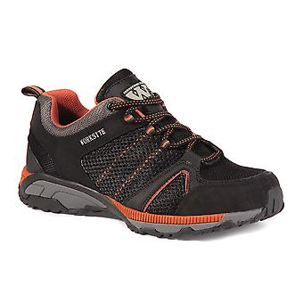 Worksite Black/orange Safety Mesh Trainer. Steel Toe & Midsole. -SS607SM