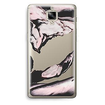 OnePlus 3 Transparent Case (Soft) - Pink stream