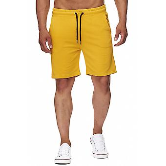 Shorts jaune L.A.B Jogg 1928 hommes moutarde