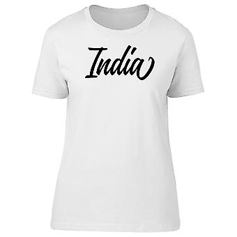 India Lettering Tee Women's -Image by Shutterstock