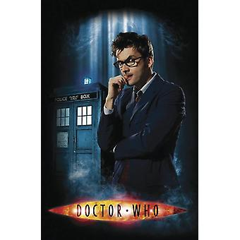 Doctor who poster the doctor & phone box II.