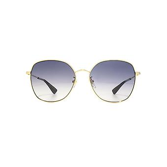 Gucci Urban Oversize Metal Round Sunglasses In Gold Grey