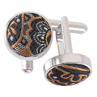 Gold & Silver Royal Paisley Cufflinks