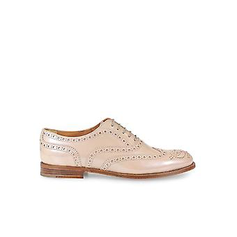 CHURCH'S BURWOOD 3 W LIGHT PINK PATENT LACE UP