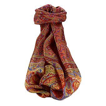 Maulbeere traditionellen langen Seidenschal Couum Scarlet von Pashmina & Seide