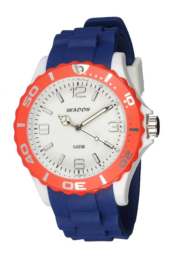 Waooh - Watch MC42 Tricolore white & red