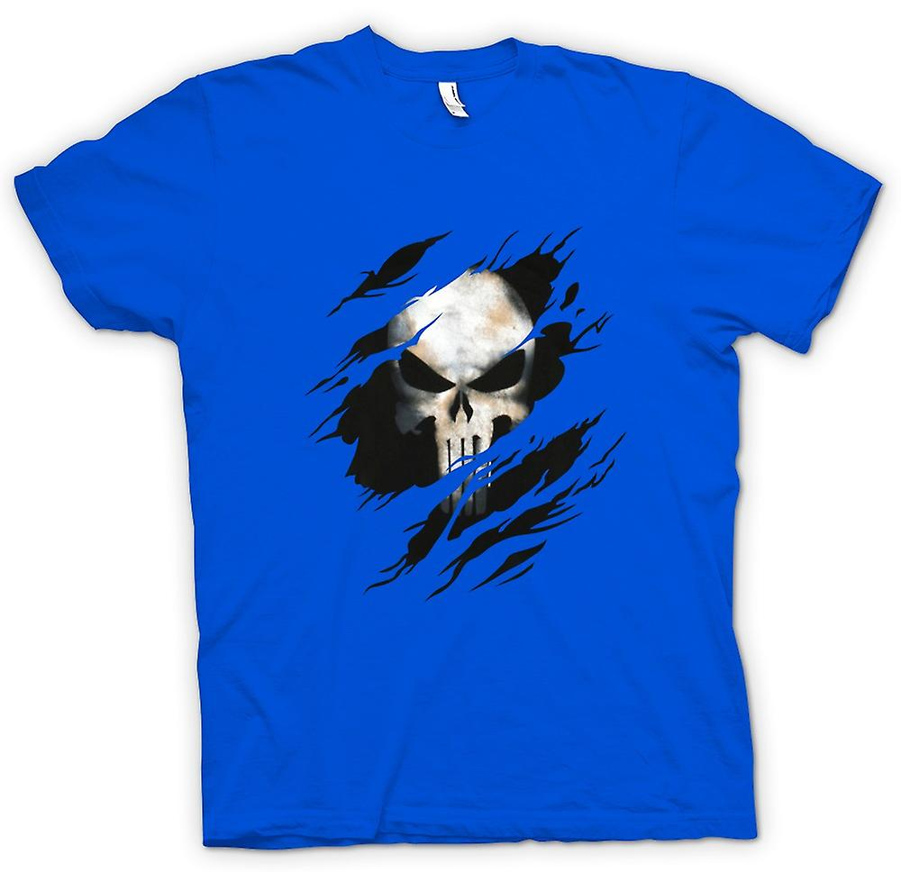 Mens T-shirt - The Punisher - Ripped Effect