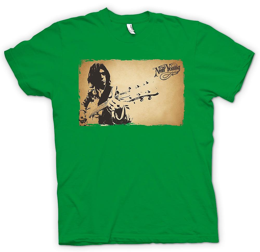 Mens T-shirt - Neil Young - Rock Legend