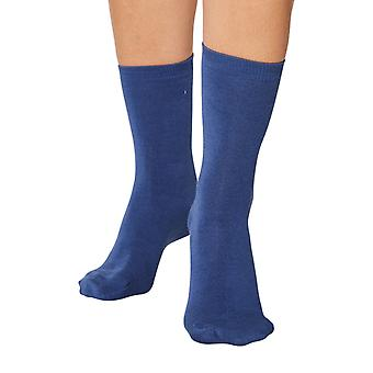 Jackie women's soft plain bamboo crew socks in denim | By Thought