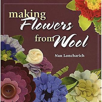 Att göra blommor av ull
