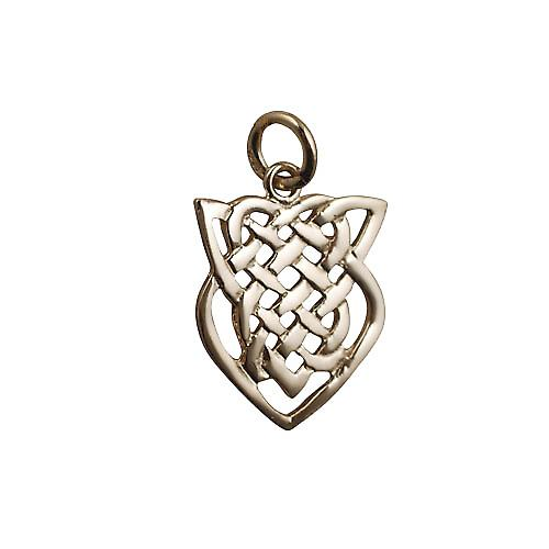 9ct Gold 20x17mm Celtic knot Pendant