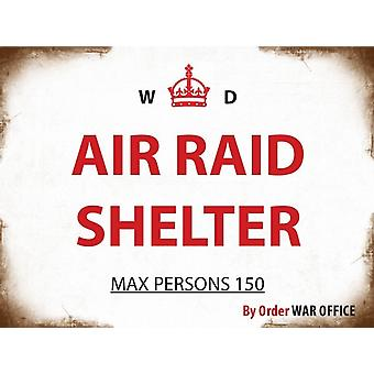 Air Raid Shelter weathered Steel Sign (og 2015)