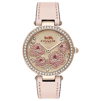 Coach | Womens Park | Pink Leather Strap | 14503285 Watch