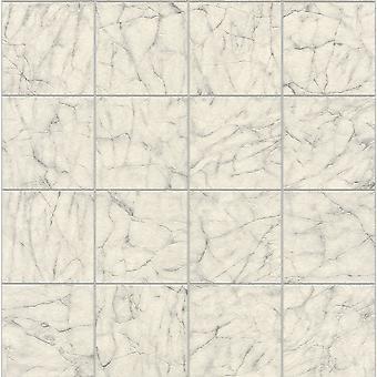 Rasch marmer tegels patroon behang uit Wit Vinyl keuken badkamer reliëf